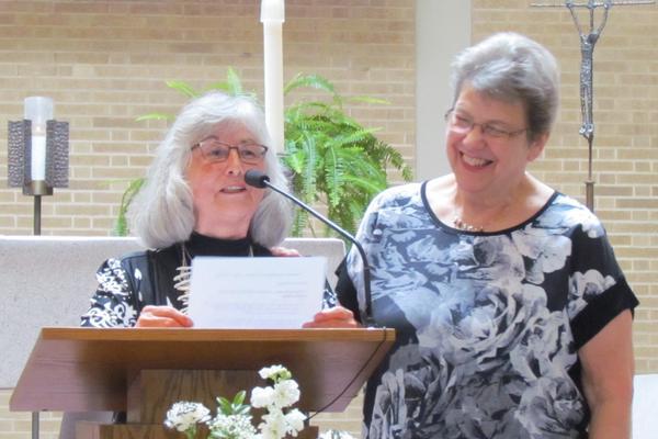 Connie Roybal with sponsor S. Joyce Ballweg