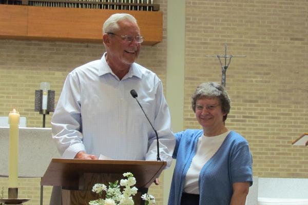 Joseph Grauwels with sponsor S. Jane Weiss