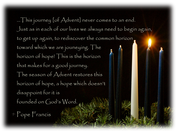 An Advent message from Pope Francis