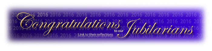Congratulations 2016 Jubilarians